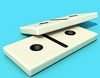 Domino 3D model with Cinema 4D