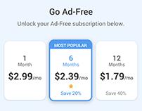 Ad-Free Subscription