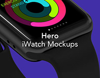 HERO iWatch Mockups