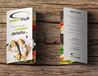 Leaflets for catering e-shop