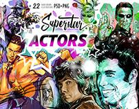 """""""Superstar Actors"""" illustrations"""
