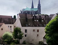 Chartres, my first digital painting (2014)