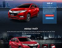 Honda HRV Landing page