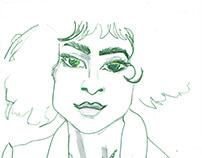 fashion illustration, pencil art
