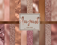 August Crush- 24 Rose Gold Textures- Rose Gold Digital