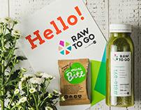 RAW TO GO / Identity, branding, packaging