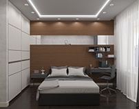 Визуализация спальни. Visualization bedrooms.
