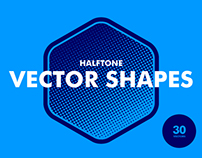 Halftone Vector Shapes