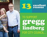 Gregg Lindberg for City Council campaign materials