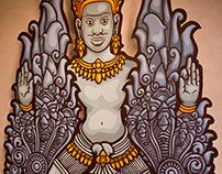 Khmer God with Nagas