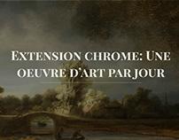Extension chrome: une oeuvre d'art par jour