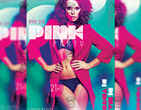 Pink Party Night Flyer - Club A5 Template