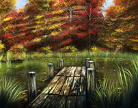 Autumn Serenity - Oils on Canvas