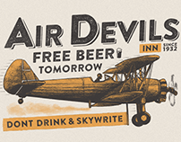 Air Devils Inn Shirt Illustration