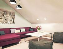 Ikea style attic