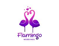 Logo for Flamingo weddings