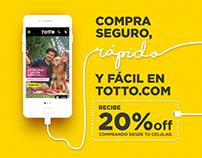 Campaña Mobile TOTTO