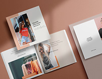 square magazine psd mockup set