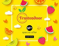 Fruitondoor Homepage Design