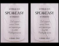 Speakeasy Art & Drinks   Poster & Menu