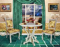 Interior for romantic date