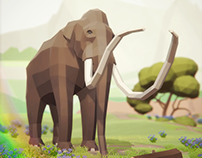 Low Poly Prehistoric Animals