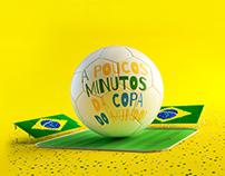 Direção de arte - Peça para campanha da copa do mundo