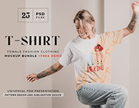 T-shirt model mockup bundle
