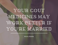 Married? Your Gout Medicines May Work Better