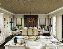Residential 3d interior designers of kitchen island