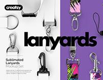 Lanyards Sublimated Mockup Set