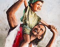 """""""As a child"""". Acrylic on Canvas 97x73cm"""