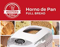 Catálogo de recetas para horno de pan