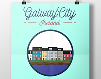 Irish Illustrations - Galway City