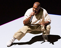 Kanye West à la Fondation Louis Vuitton