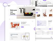 Furniture Garden-creative business landing page design