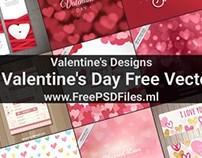 15 Valentine's Day Free Vectors