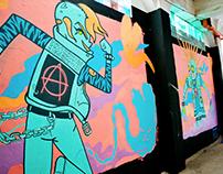 Punk Rock Love. Mural.