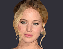 Low Poly Illustration - Jennifer Lawrence