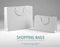 Shopping Bags Free Mockup