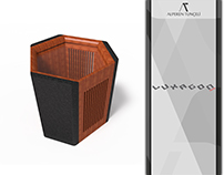 LUXAGON Concept Pouf-Table Design for Nurus