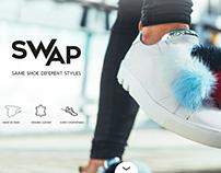 Swap Footware - Responsive Hotsite - Branding