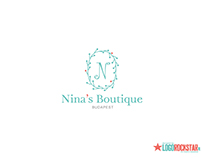 Nina's boutique french luxury kids fashion branding