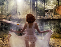 Art direction | retouch | concept · the Forest Woman