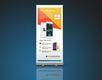 Mobile app Roll up Banner