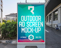Outdoor Advertising Screen Mock-Ups 11 (v.1)