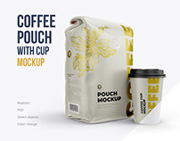 Coffee Pouch with Cup mockup