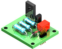 PCB boards created in the course project