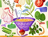 Food-centric Illustration