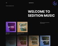 Sedition Music Brand Design